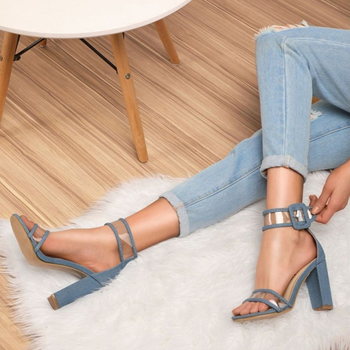 Buckle Chunky Heel Heel Covering Open Toe Casual Sandals
