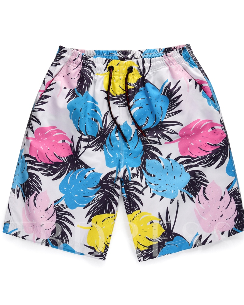 Straight 3D Print Men's Beach Shorts