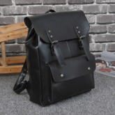 Casual Belt Decorated Plain PU Backpacks