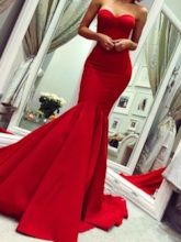 Sweetheart Mermaid Red Evening Dress 2019