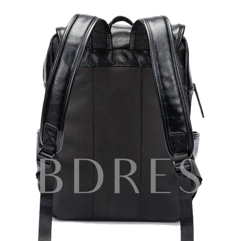 Fashion Thread Plain PU Men's Backpacks