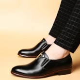 Low-Cut Upper Plain Slip-On Pointed Toe Business Men's Shoes