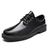 Low-Cut Upper Plain Round Toe Men's Leather Prom Shoes