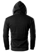 Cardigan Plain Slim Men's Hoodie