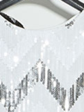 Short Sleeve Sequins Round Neck Straight Women's Party Dress