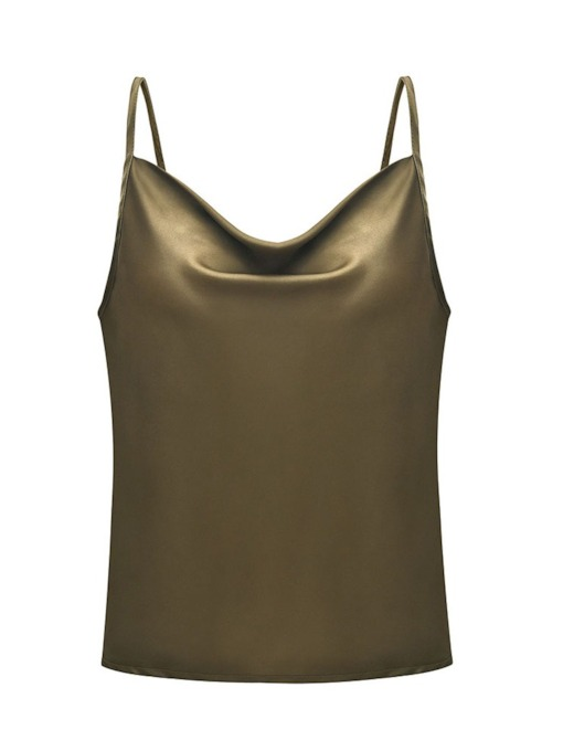 Summer Spaghetti Straps Plain Women's Tank Top