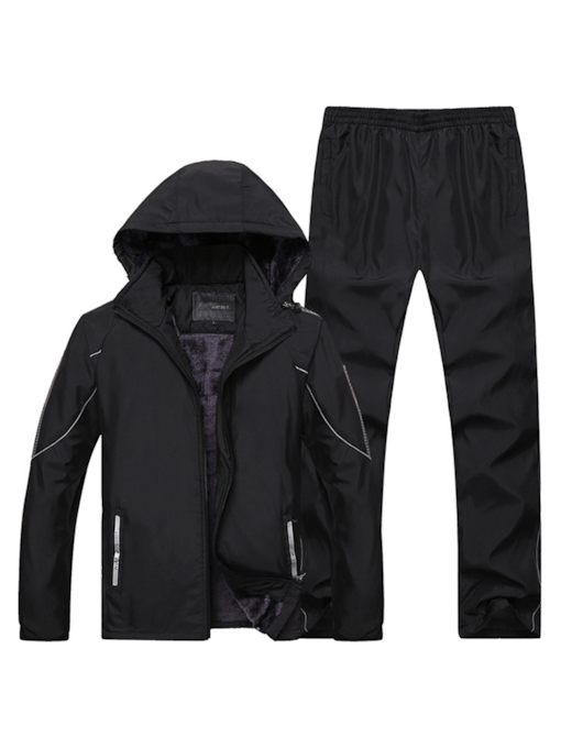 Jacket & Pants Plain Casual Men's Outfit