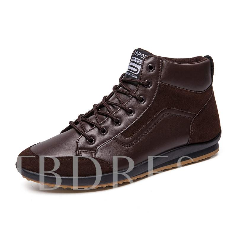Lace-Up High Top Mesh Men's Sneakers