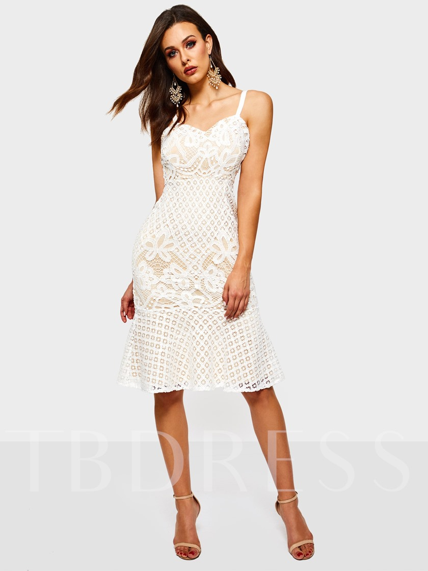 Lace Sleeveless Spaghetti Strap Women's Sexy Dress