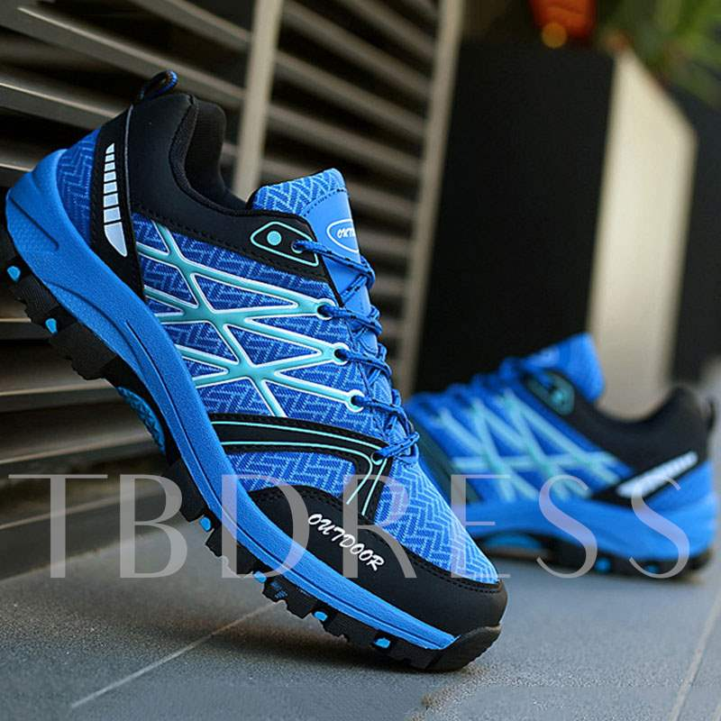 Low-Cut Upper Lace-Up Thread Outdoor Sneakers for Men