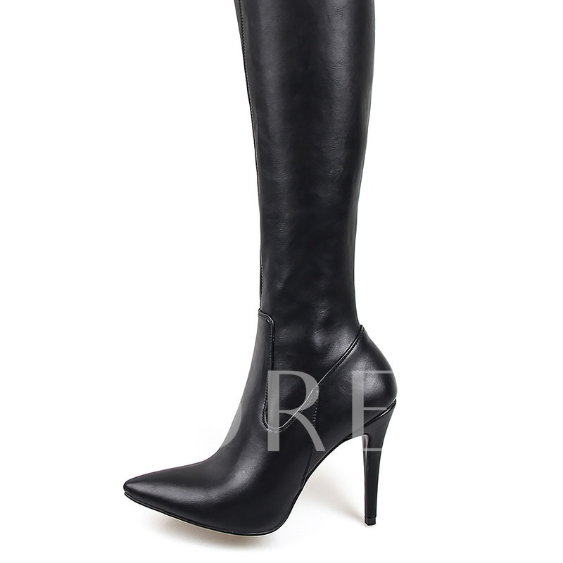 Customizde Pointed Toe Stiletto Heel Sexy Thigh High Boots