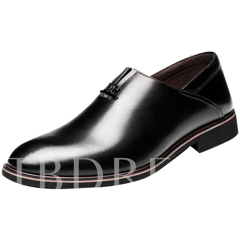 Low-Cut Upper Pointed Toe Professional Men's Leather Shoes