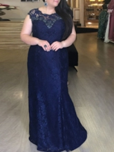 Sheath Lace Plus Size Mother of the Bride Dress