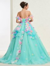 Ball Gown Flowers Off-The-Shoulder Quinceanera Dress