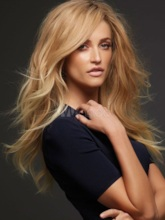 Super Long Wavy Layered Hairstyle with Full Fringe Synthetic Capless Women Wigs 24 Inches