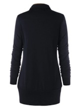 Color Block Mid-Length Women's Sweatshirt