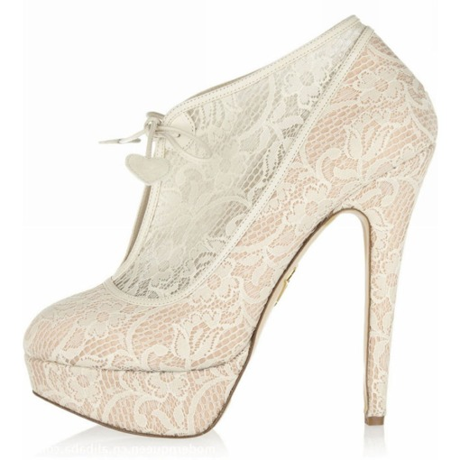 Elastic Band Round Toe Platform Stiletto Heel Wedding Boots