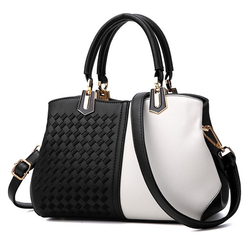 Casual Embossing PU Plaid Rectangle Tote Bags