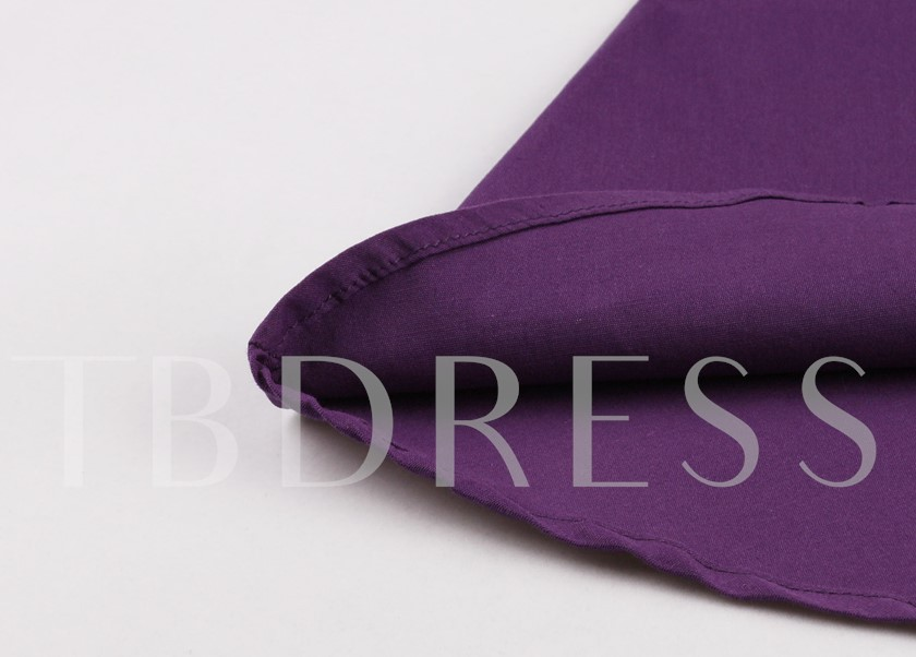 Halter Knee-Length Purple A-Line Cocktail Dress