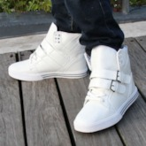 Plain Lace-Up High-Cut Upper Round Toe Men's Skate Shoes