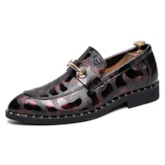 Color Block Low-Cut Upper PU Leather Men's Loafers