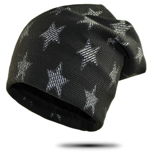 Star Print Cotton Skullies & Beanies for Men