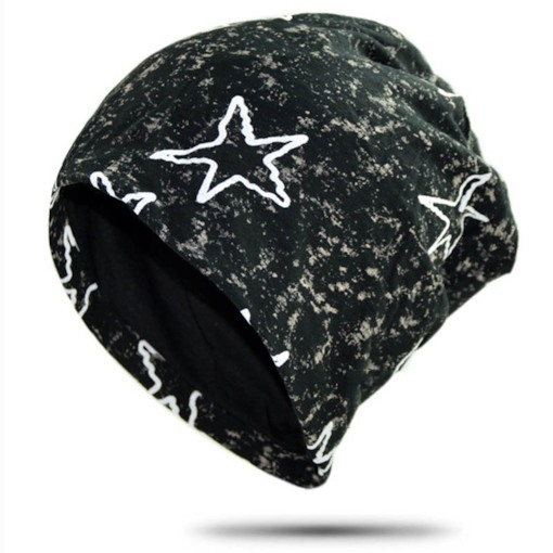 Star Pattern Hip Hop Cotton Skullies & Beanies for Men