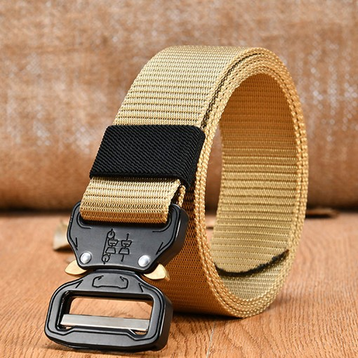 Interlocks Knitted Casual Canvas Men's Belts