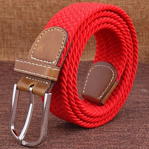 Casual Knitted Pin Buckle Canvas Men's Belts