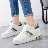 Platform Lace-Up Low-Cut Upper Round Toe PU Women's Sneakers