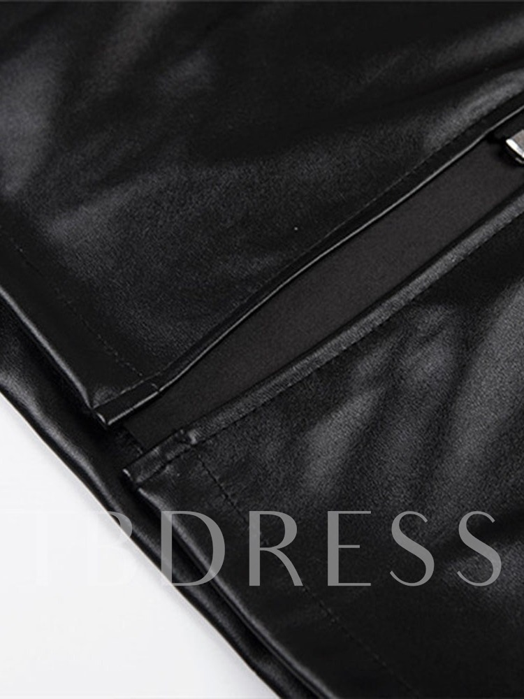 Plain Zipper A-Line Mini Skirt High-Waist Women's Skirt