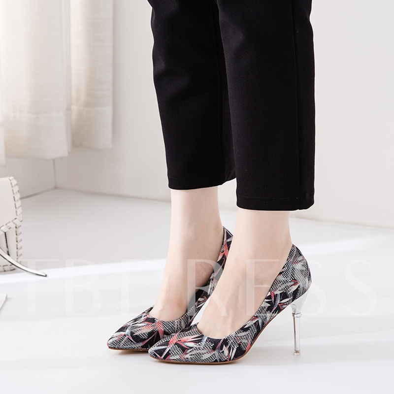 Pointed Toe Slip-On Stiletto Heel Low-Cut Upper Unique Pumps