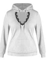 Loose Lace Hollow Women's Hoodie