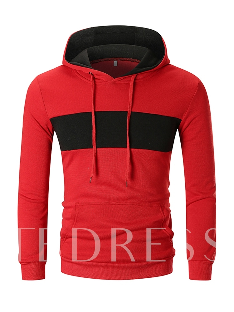 Patchwork Pullover Color Block Men's Hoodie