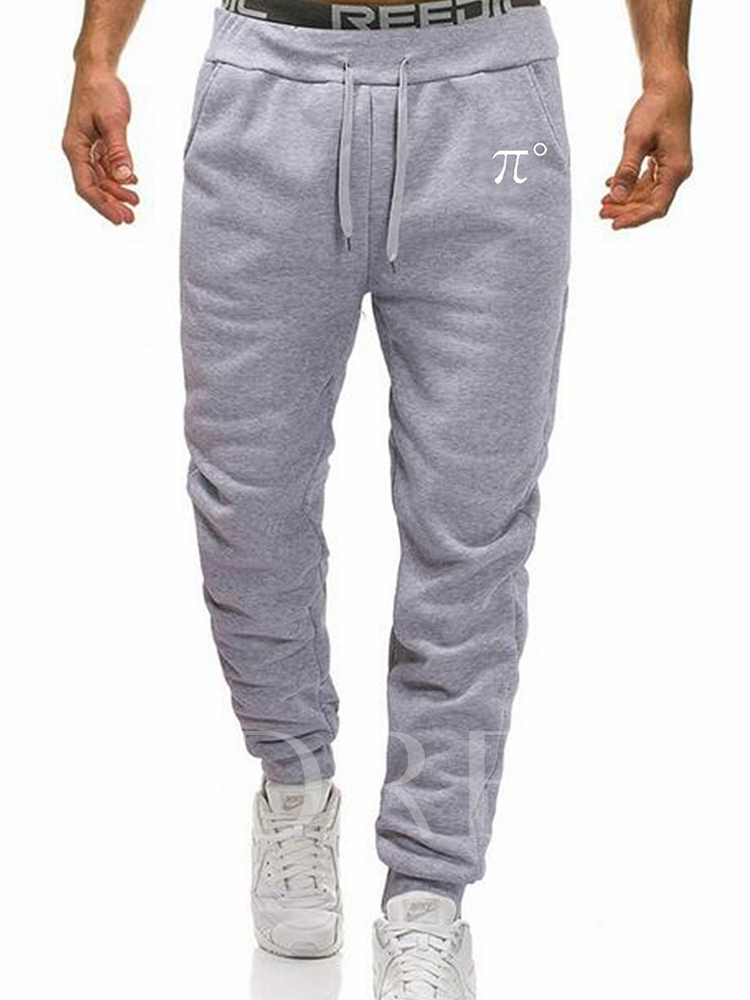 Print Letter Men's Casual Pants