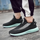 Low-Cut Upper Lace-Up Round Toe Mesh Chic Men's Sneakers
