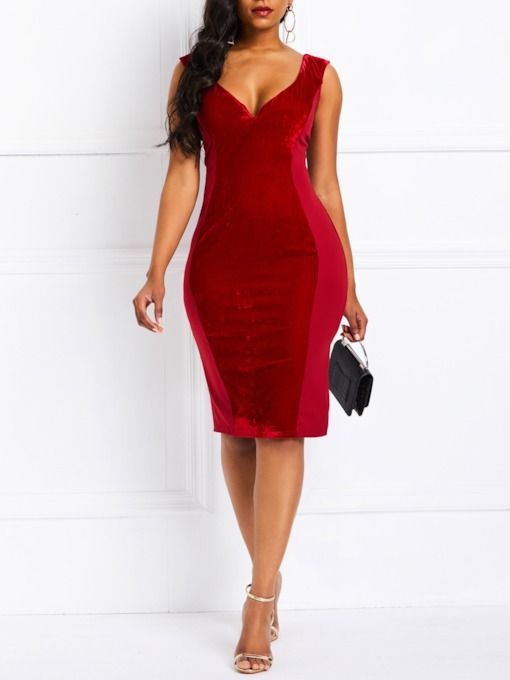 Short Sleeve Pullover Bodycon Women's Day Dress