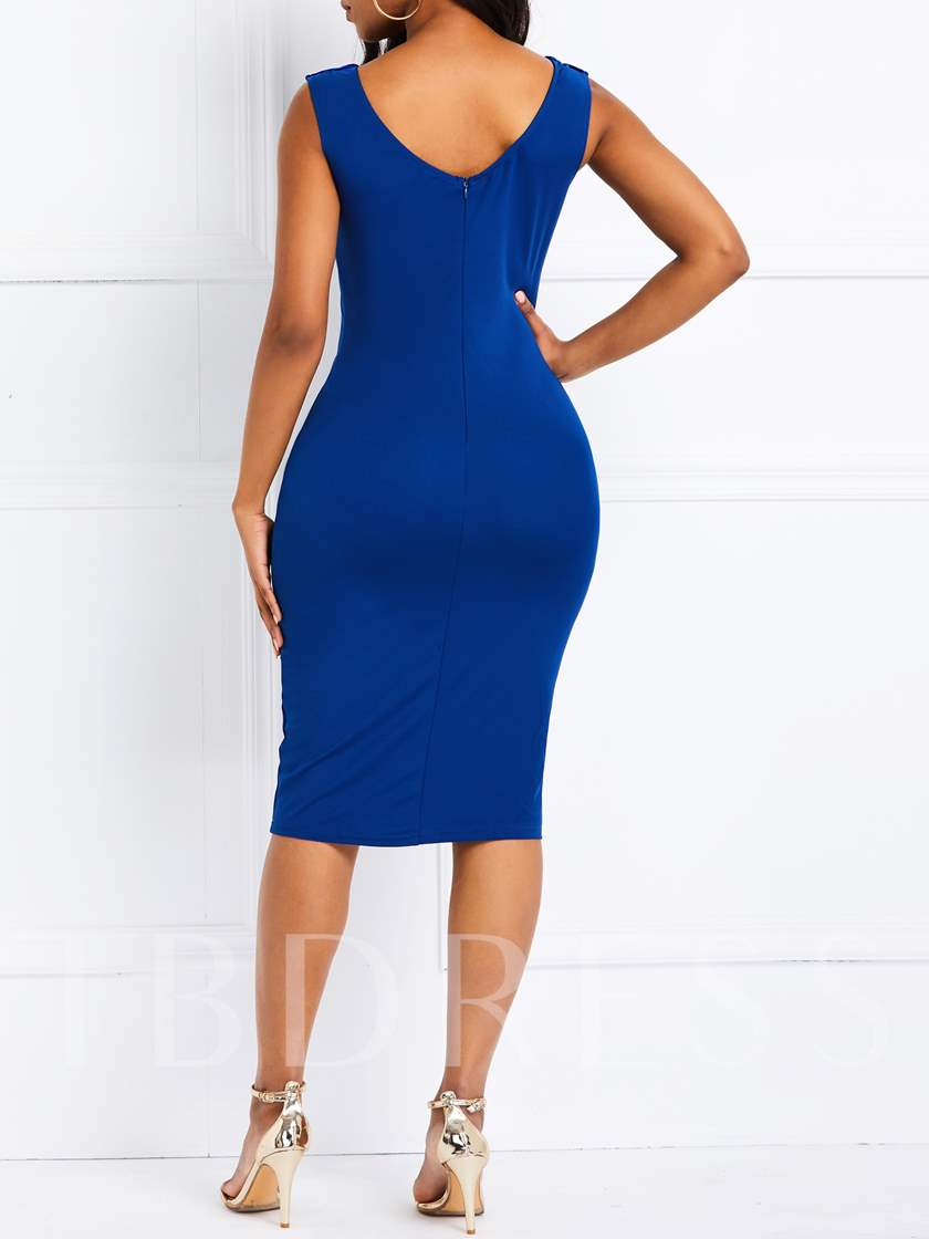 Short Sleeve Bodycon Sleeveless Women's Day Dress