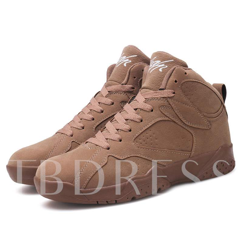 High Top Lace-Up Thread Mne's Sneakers