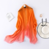 Living Coral Chiffon Plain Color Ladylike Beach Scarf