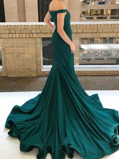 Sweep Train Floor-Length Sleeveless Pleats Evening Dress