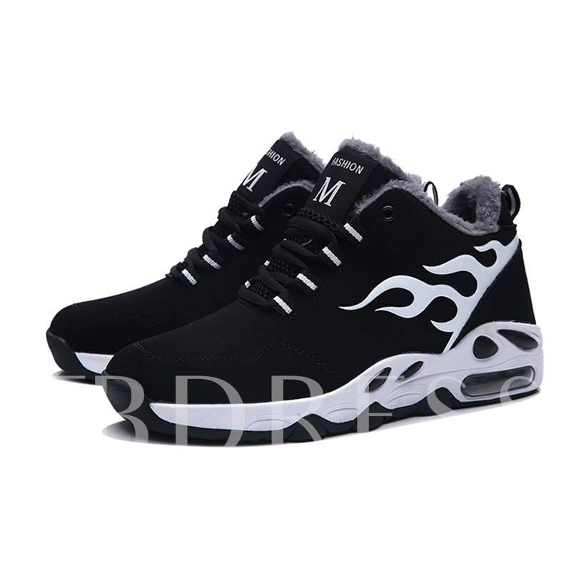 Mid-Cut Upper Short Floss Lace-Up Round Toe Men's Sneakers