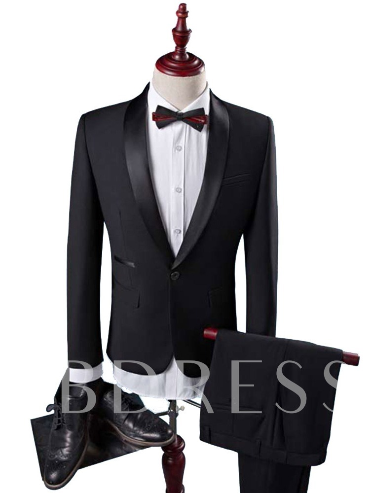 Color Block Formal Patchwork Vest Men's Dress Suit