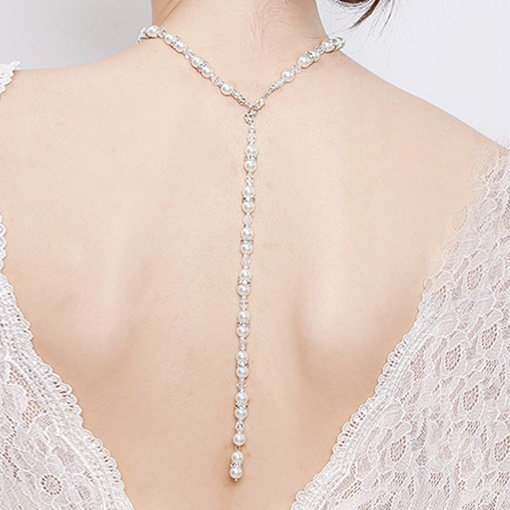 Freshwater Pearl Floating Pendant Chain Necklace