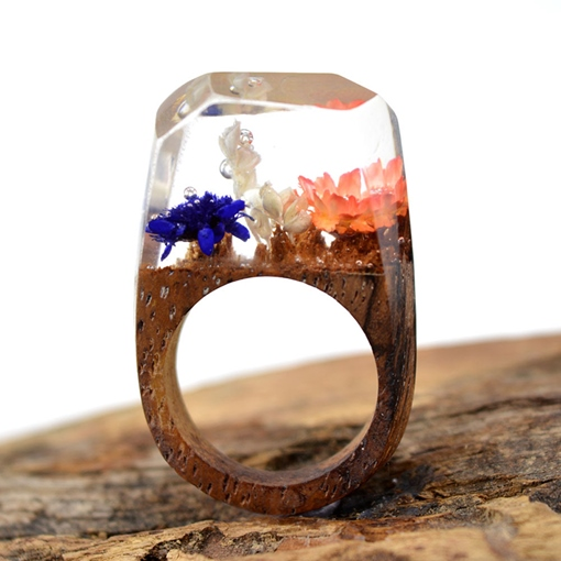Wood Vintage Party Rings