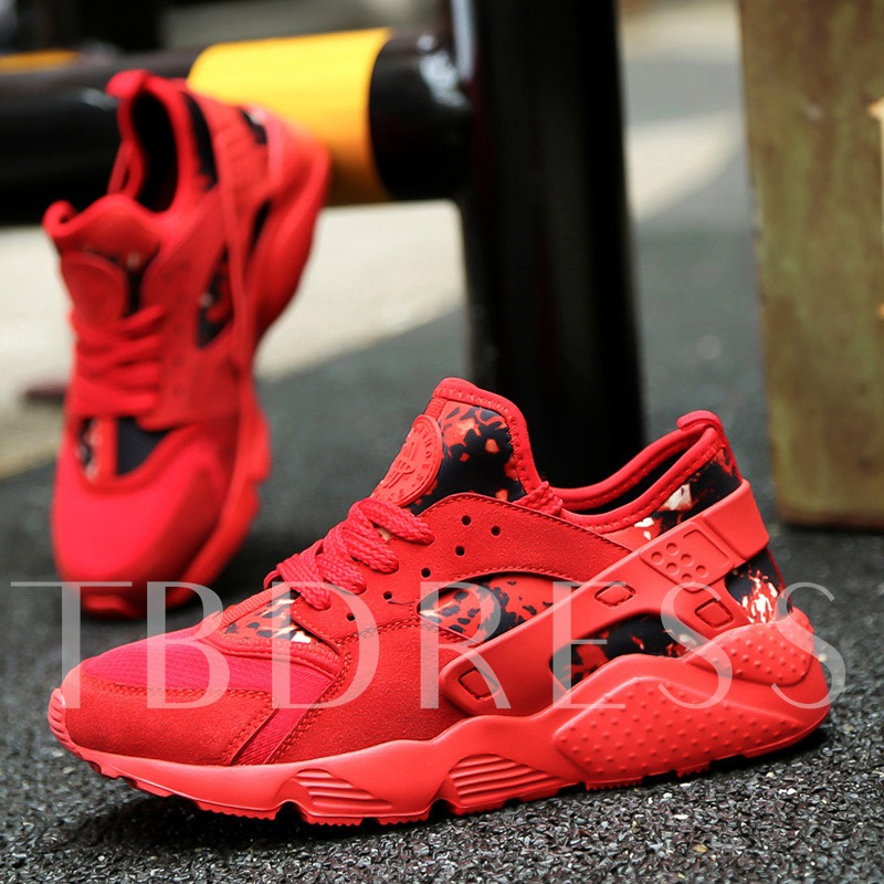 Mesh Lace-Up Round Toe Patchwork Women's Sneakers