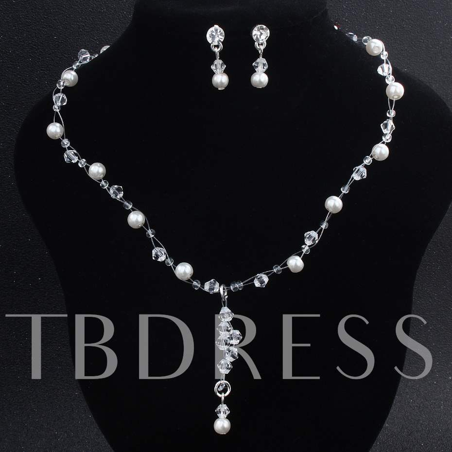 Pearl Decorated Handmade 2 Pcs Jewelry Sets