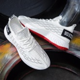 Low-Cut Upper Lace-Up Round Toe Casual Men's Sneakers