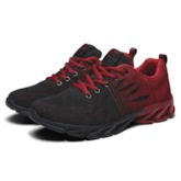 Color Block Lace-Up Low-Cut Upper Round Toe Men's Sneakers