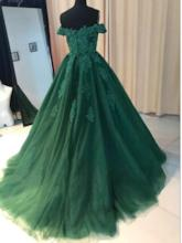 Off-The-Shoulder Appliques Ball Gown Evening Dress 2019